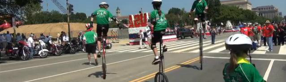 Video: One Wheelers rolled through the Independence Day 2012 Parade