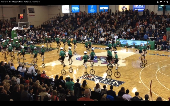 WOW performance at Maine Red Claws Opening Night 2013