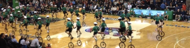 WOW performance at Maine Red Claws Opening Night2013