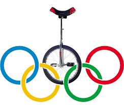unicycle olympic rings