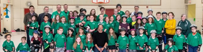Patrick Dempsey stopped by for a short visit with our One Wheelers
